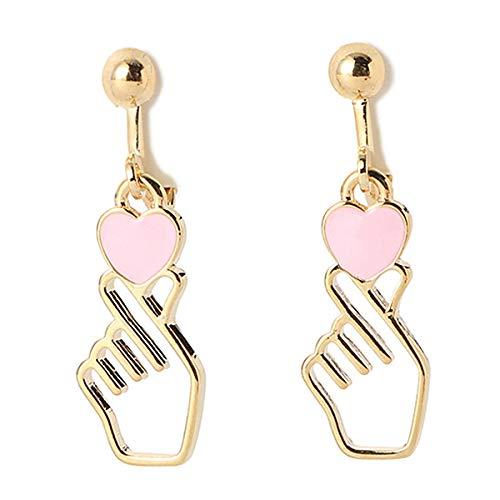 [해외]손가락 하트 귀걸이 / Finger Heart Earrings