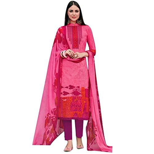 Ladyline Womens Pure Cotton Salwar Kameez Printed Indian Dress