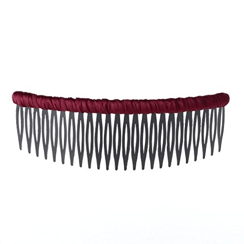 e Combs Cloth pin Clip Styling Hairbrush Beauty Accessory for Women Girls (Wine Red) ()