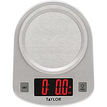 Amazon.com: Taylor 3839 Glass LED Kitchen Scale: Digital