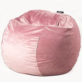 Amazon Com Posh Misty Rose Velvet Large Bean Bag