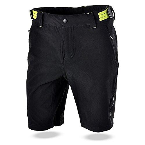 Cheap SILVINI Men's MTB Shorts ELVO MP809 Black-Lime XXL