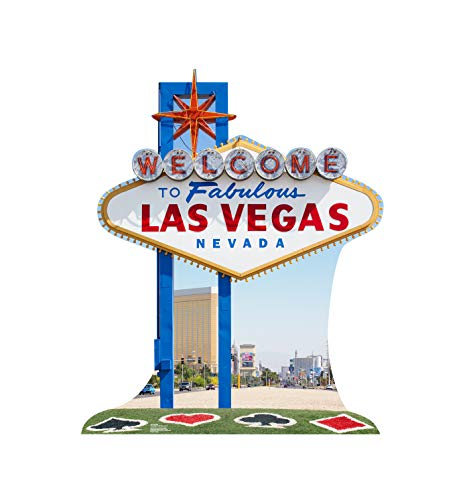 Advanced Graphics Vegas Sign Life Size Cardboard Cutout Standup - Vegas Party Theme -