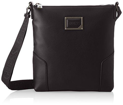 Guess Herren Bags Crossbody Schultertasche, 3x25x23.5 centimeters Schwarz (Black)