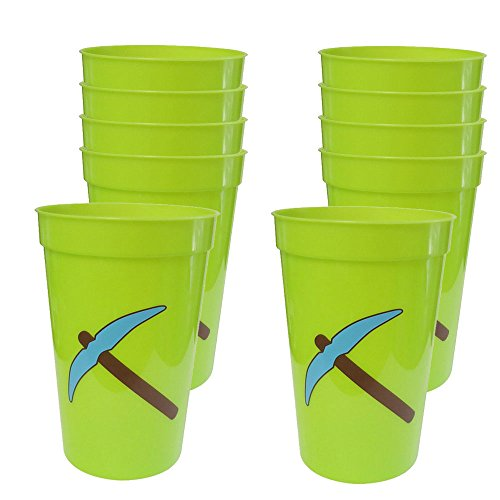 Mining Fun Pickaxe 12-Ounce Cups (10) (Minecraft At Party City)