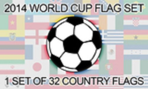 2014 FIFA World Cup Nations Soccer Flags 3'x5' Football Set