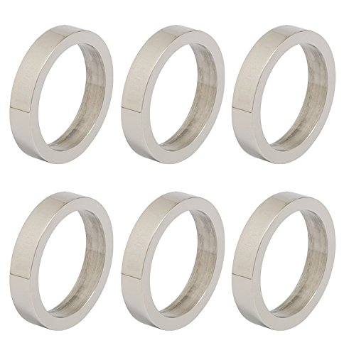 DII Contemporary Chic Napkin Rings for Dinner Parties, Weddings Receptions, Family Gatherings, or Everyday Use, Set Your Table With Style - Silver Circle, Set of ()