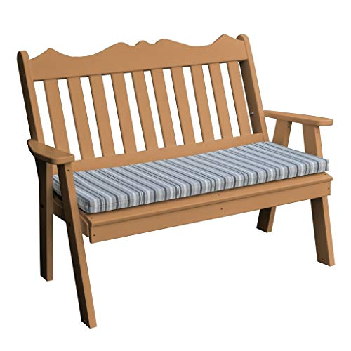 Kunkle Holdings, LLC 4' Poly Royal English Garden Bench Cedar