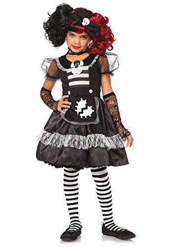 [Leg Avenue Children's Rebel Rag Doll Costume] (Broken Rag Doll Costume)