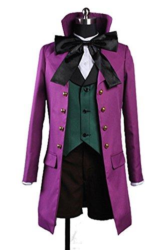 Ciel Phantomhive Costume Cheap (UU-Style Black Butler II Alois Trancy Jacket Shorts Outfit Suit Uniform Cosplay Costume)