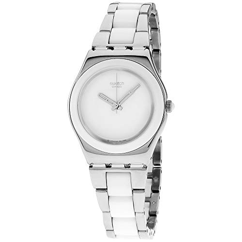 Swatch Irony Lady - Swatch Irony White Dial Stainless Steel with Ceramic Ladies Watch YLS141GC
