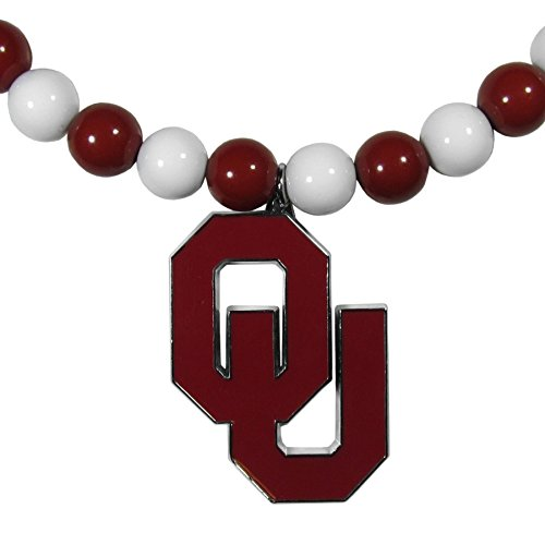 (Siskiyou NCAA Oklahoma Sooners Fan Bead Necklace )