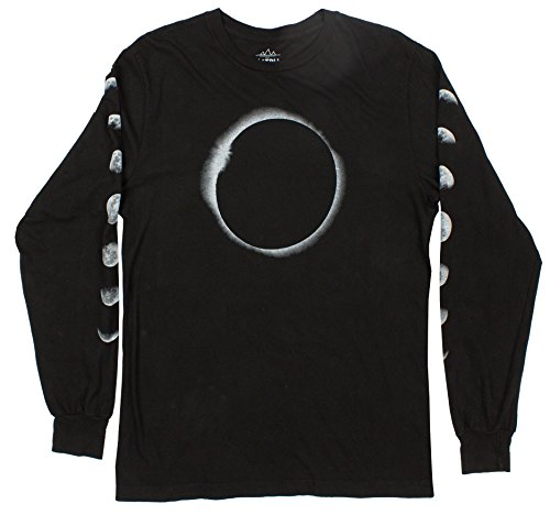Mens Long Sleeve Black Graphic tee Shirt ()