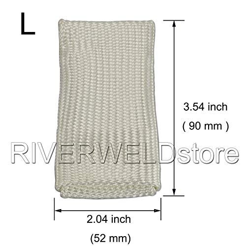 Welding Tips & Tricks Tig Finger Welding Glove Heat Shield L & XL, 2PK by RIVERWELD (Image #1)