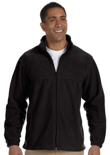Harriton Mens Full Zip Fleece (Harriton Mens Full-Zip Fleece (M990) -BLACK -M)