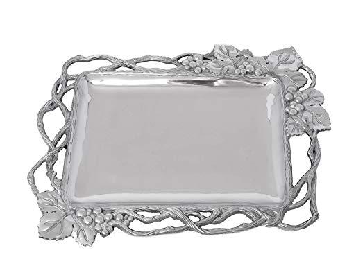 (Arthur Court Designs Aluminum Grape Open Vine Rectangle 19