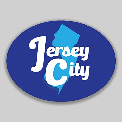 - JMM Industries Jersey City New Jersey Vinyl Decal Sticker Car Window Bumper 2-Pack 4.5-Inches by 3.5-Inches Premium Quality UV-Protective Laminate PDS1706