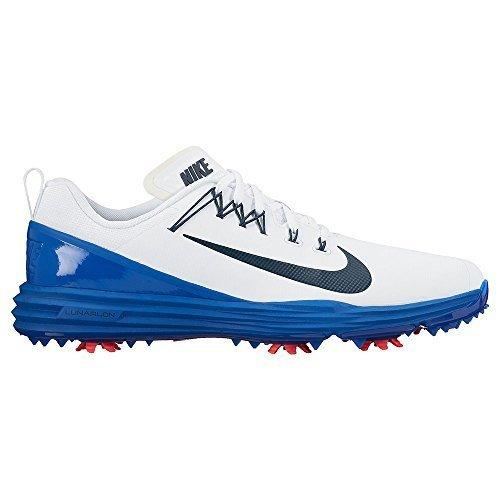 low priced 0803d ab94e NIKE Lunar Command 2 Golf Shoes 2017 WhiteArmory NavyBlue JaySolar