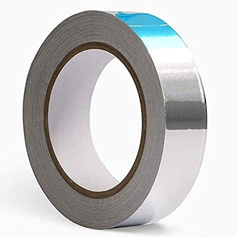 Anlising Aluminium Klebeband 30mm*50m Aluminiumband aluminiumband selbstklebend Hitzebest/ändig Aluminiumklebeb/änder Aluminium Klebeband zum Abdichten oder D/ämmen 1 Rolle in Silber