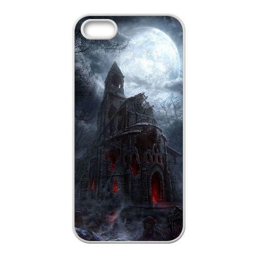 D5U48 cathédrale Diablo III T3W6GE coque iPhone 4 4s cellulaire cas de téléphone couvercle coque blanche FN1HJP0JK