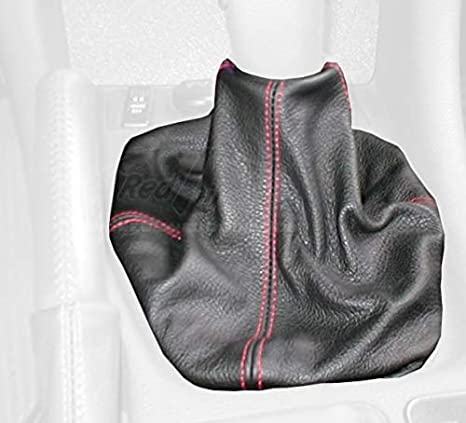 RedlineGoods Shift Boot Compatible with Dodge Stealth 1990-97 Black Leather-Black Thread