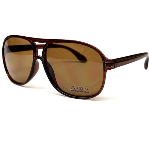 Aviator Pilot Retro Turbo 2tone Sunglasses A88 (brown, - School Sunglasses Old Aviator