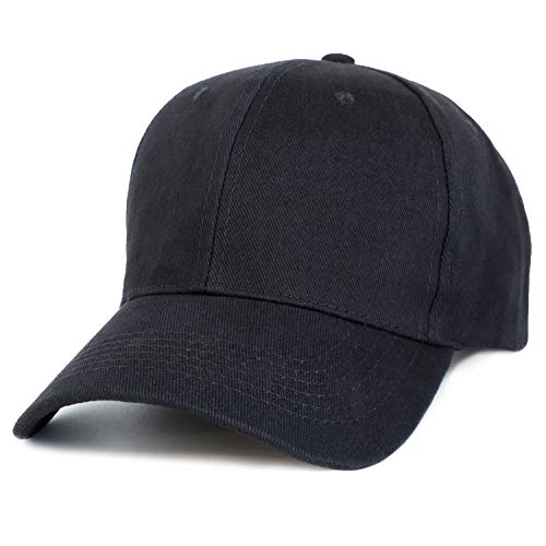 Juvale Plain Baseball Caps - Set of 24 Blank Cotton Dad Hats, Adjustable 7 to 7 7/8 Inches, Black