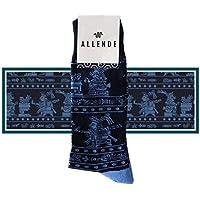 Allende 🇲🇽 | Par de Calcetines de diseño 'Mural Azteca' artesanal, unisex maquilado en Puebla