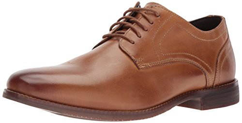 Rockport Mens Derby Room Plain Toe Oxford  Tan  7 5 M Us