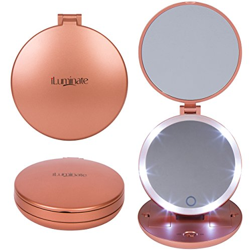 Folding Travel Mirror Light Magnifying product image