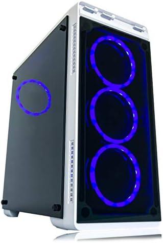 Alarco Gaming PC Desktop Computer White Intel i5 3.10GHz,8GB Ram,512GB SSD Storage,Windows 10 pro,WiFi Ready,Video Card Nvidia GTX 650 1GB, 4 RGB Fans