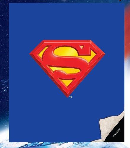 JPI Superman Shield Double Sided Sherpa Queen Blanket