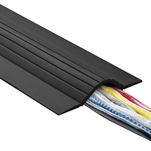 Profile Wire - UT Wire UTW-CPL5-BK 5' Cable Blanket Low Profile Cord Cover and Protector, Black