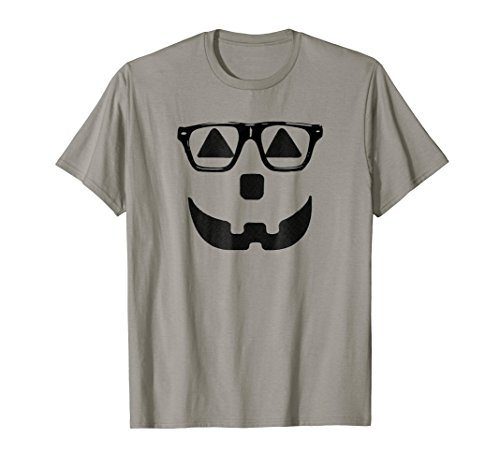 Hipster Pumpkin Carving Face Jack-O-Lantern Inspired T-Shirt ()