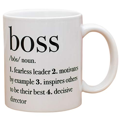 Boss Definition Leader Motivates White 11 Oz Ceramic Stoneware Coffee Mug