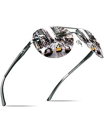 8ab064a431 KITHDIA Hombre Polarizadas del estilo de la vendimia gafas de sol con  protección UV400