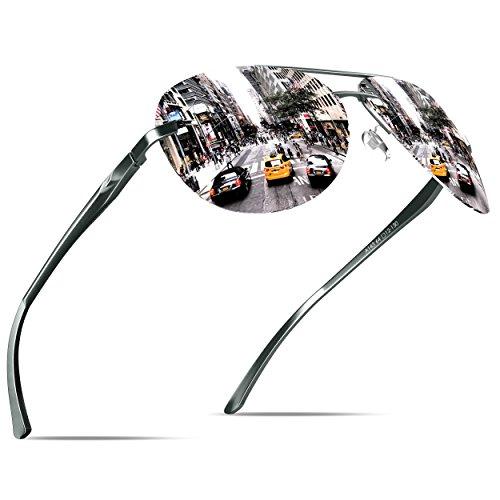 de del protección Aviador gafas con KITHDIA la sol de estilo Plateado vendimia UV400 HT0wUSq5x