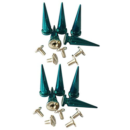 MOPOLIS 10pcs Copper Screwback Spikes Cone Studs Rivets for Shoes Bags Accessories | Color - Blue