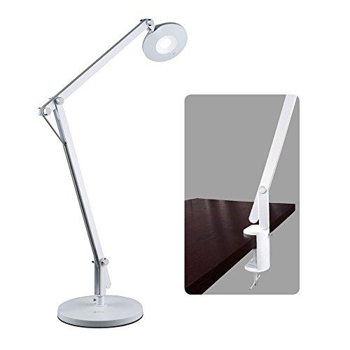 OttLite LED Crane Desk Lamp | Table Lamp, Task Lamp | 530 Lumens, Clamp Included | Great for Home, Office, Dorm, Workbench - Conversion Kit Time