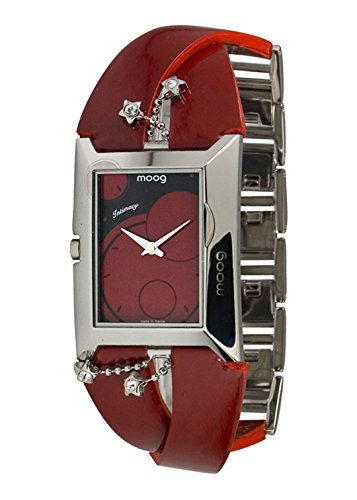 Moog Paris Intimacy Women's Watch with Red Dial, Red Strap in Genuine Leather - M44952-006