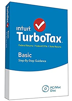 TurboTax Basic 2015 Federal + Fed Efile Tax Preparation Software - PC/MacDisc [Old Version]