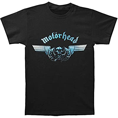 Motorhead Mens T Shirt Black Tri Skull War Pig Blue band logo Official