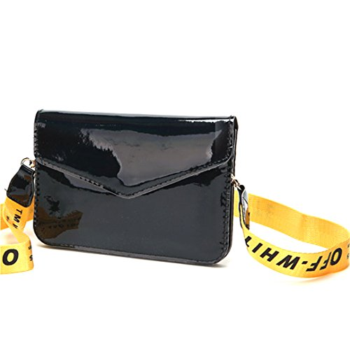 Crossbody Black Bag Fashion Clutch Evening Tote Women PU Shoulder Hologram Bag Purse Handbag ZLMBAGUS Bag RzWUAxq6nU