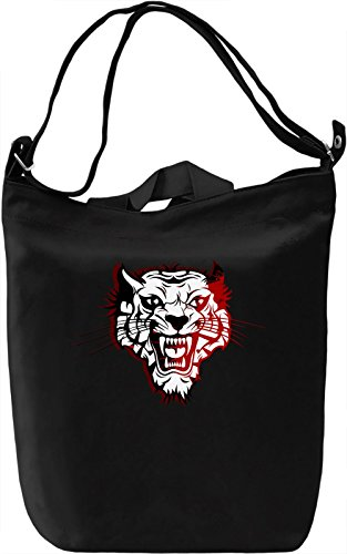 Wild Tiger Borsa Giornaliera Canvas Canvas Day Bag| 100% Premium Cotton Canvas| DTG Printing|