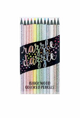 OOLY, Razzle Dazzle Colored Pencils, Set of 12 (Glitter Pencils)
