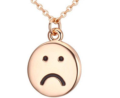 Lovely Land Emoji Pasta Lovely Face Pendant Necklace (Sad(yellow))