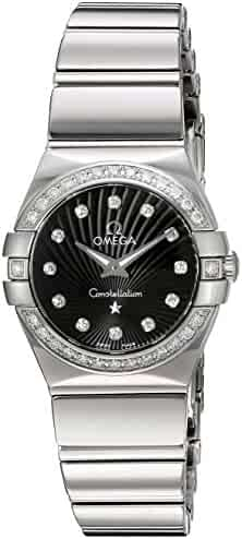Omega Women's 'Constellation' Swiss Quartz Stainless Steel Dress Watch, Color:Silver-Toned (Model: 12315246051002)