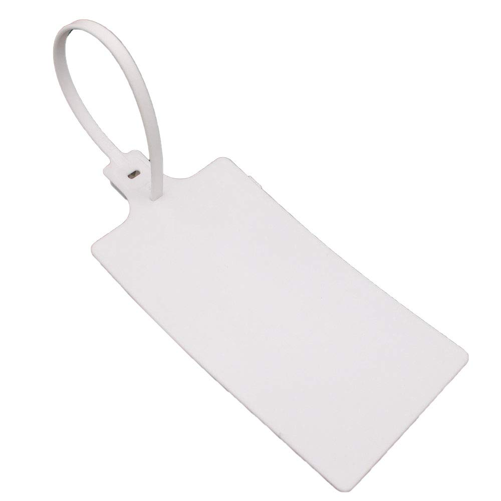 Plastic Seals Shipping Tags Logistics Use Big Sign Tie Large Label Tie 58&100mm, 255mm Total Length, Package of 100pcs (White) by XF-Vel