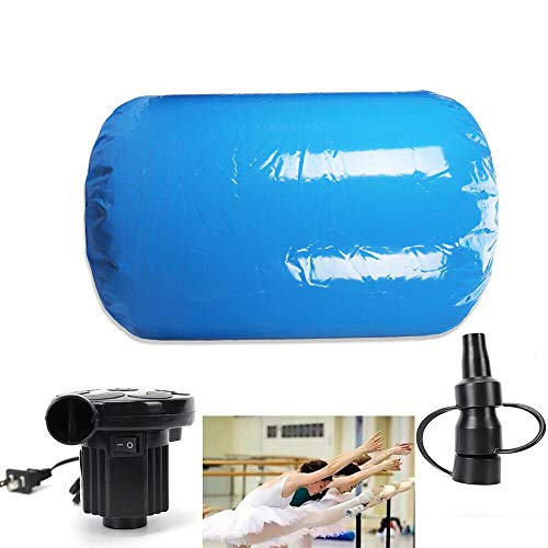BOYU-SHITAI 120x90CM Inflatable Gymnastics Mat Air Roll Balance Training Roller Small Home Inflatable Air Roller with Pump for Gymnastics Training Gym Yoga