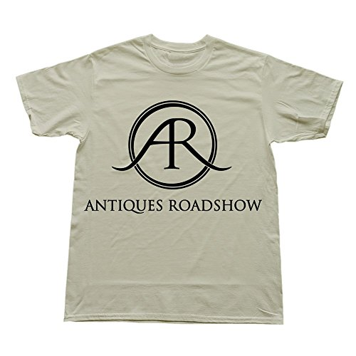 Geek Antiques Roadshow TV Shows Logo Men's Tee Natural Size XS